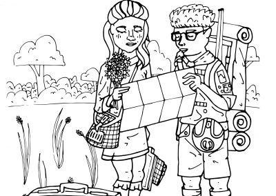 Moonrise Kingdom Coloring Sheet
